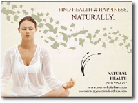 spa & natural health center postcards