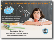 education child care postcard