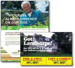 lawn care marketing postcards