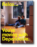 moving company marketing postcards