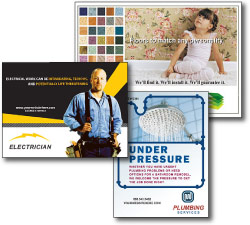 plumbing electrical subcontractors direct mail postcards