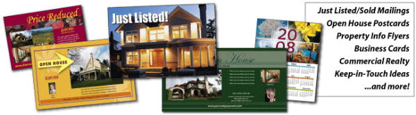 real estate postcards & marketing materials