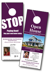 Berkshire Hathaway Home Services door hangers