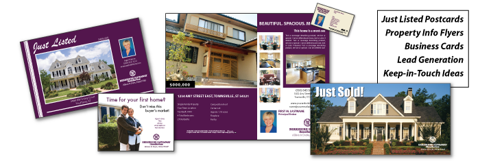 Berkshire Hathaway Home Services postcard designs