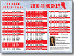pro sports schedule postcards