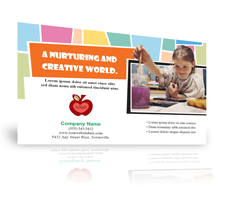 Direct mail post cards for education