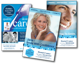 dental campaign postcard samples