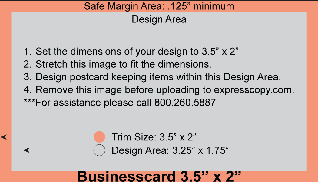 Business Card Print Specifications | expresscopy.com
