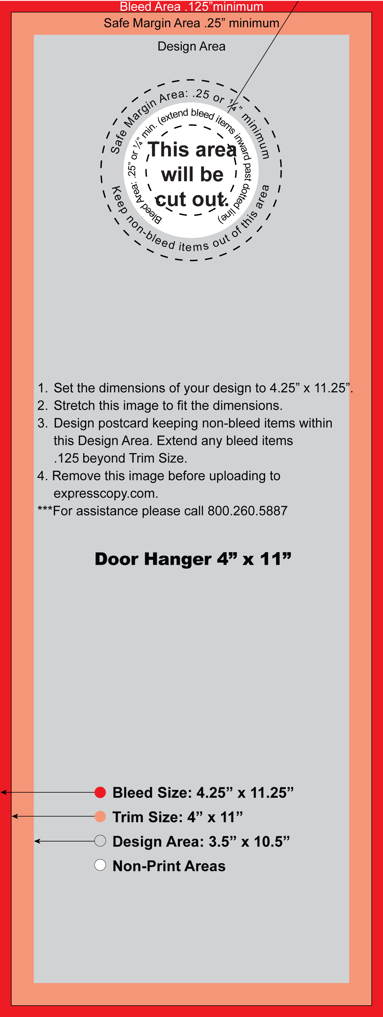 Door Hanger Design Specifications
