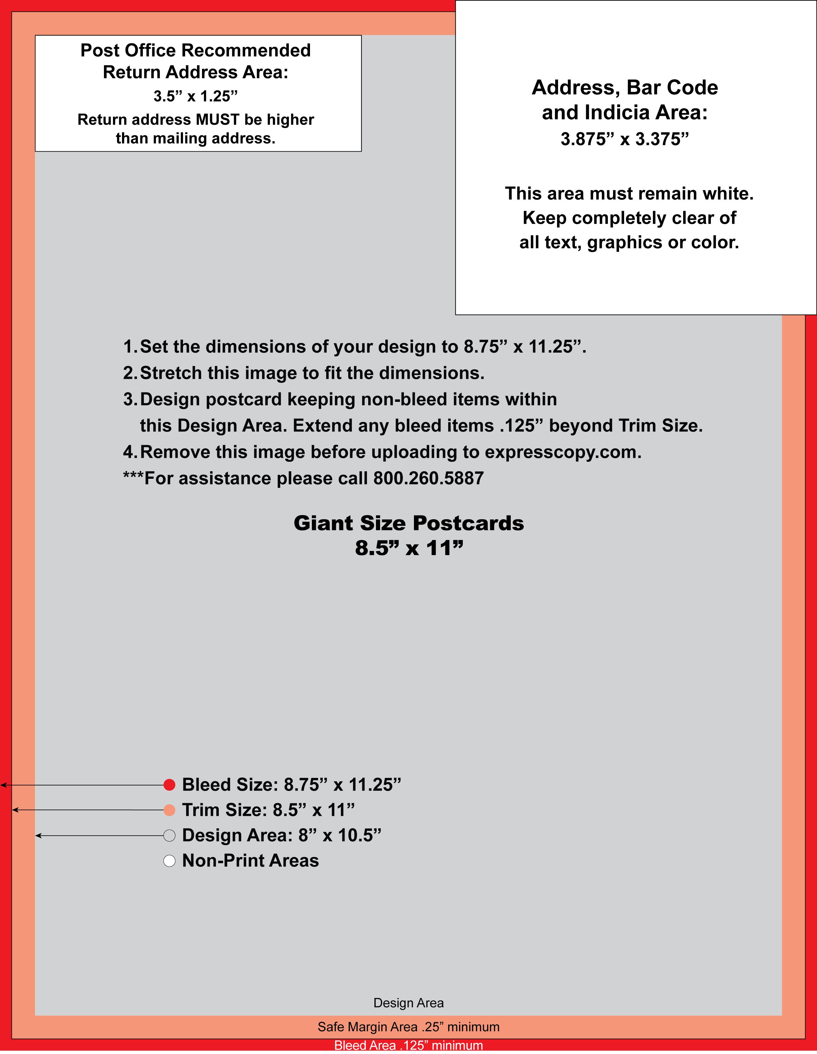 Postcard Specifications Amp Postcard Postal Regulations