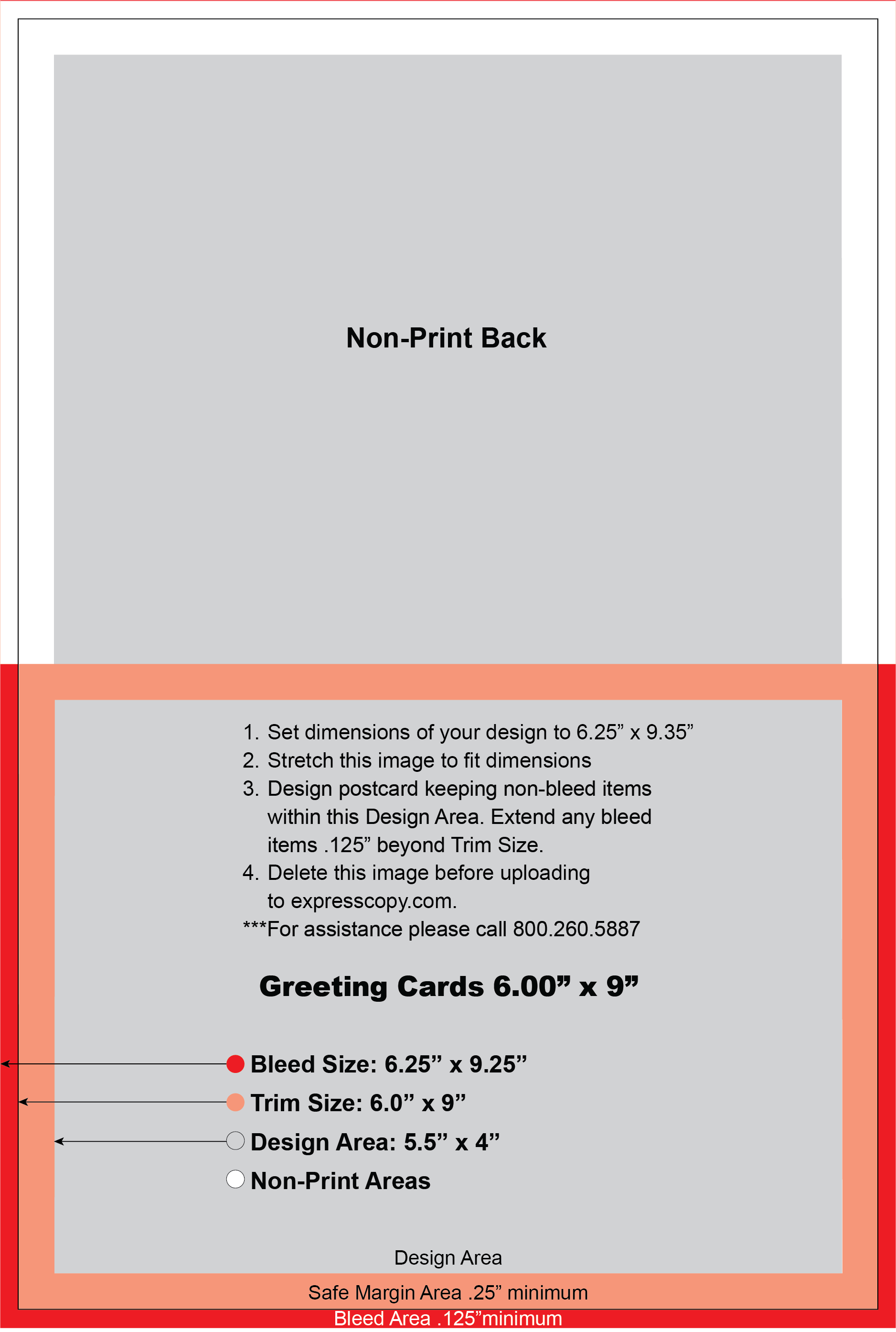 Greeting Card Print Specifications – Standard Birthday Card Size