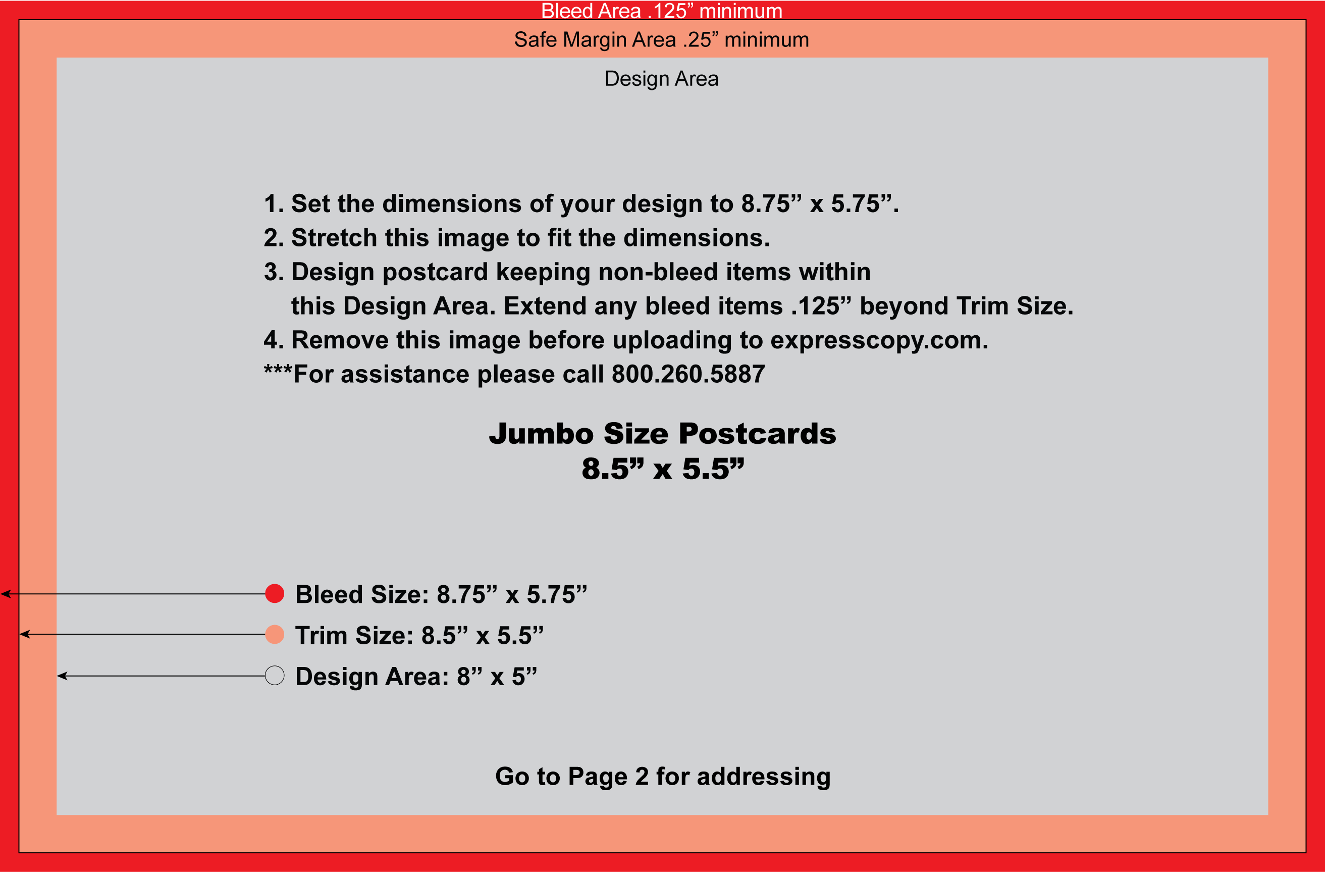 Postcard Specifications Postcard Postal Regulations Expresscopycom - Jumbo postcard template
