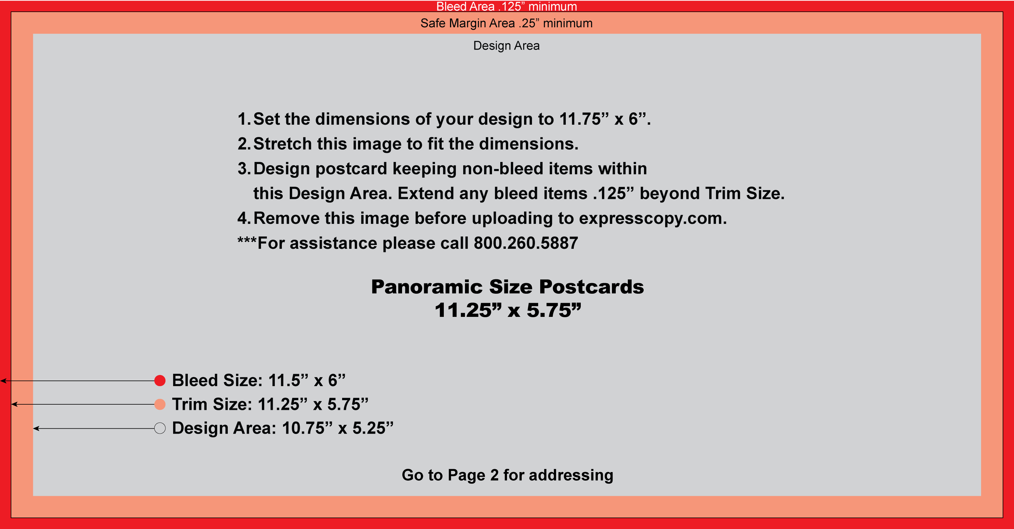 oversize postcard size