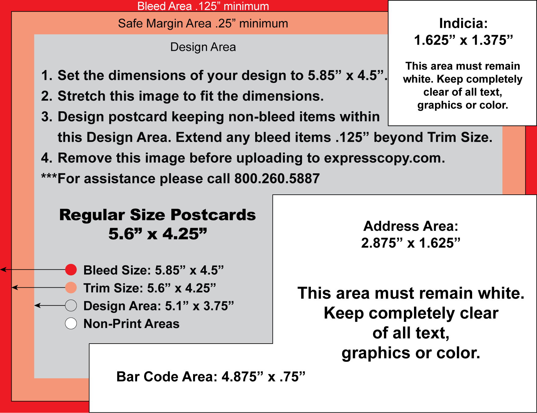 Postcard specifications postcard postal regulations for Indesign postcard template 4x6