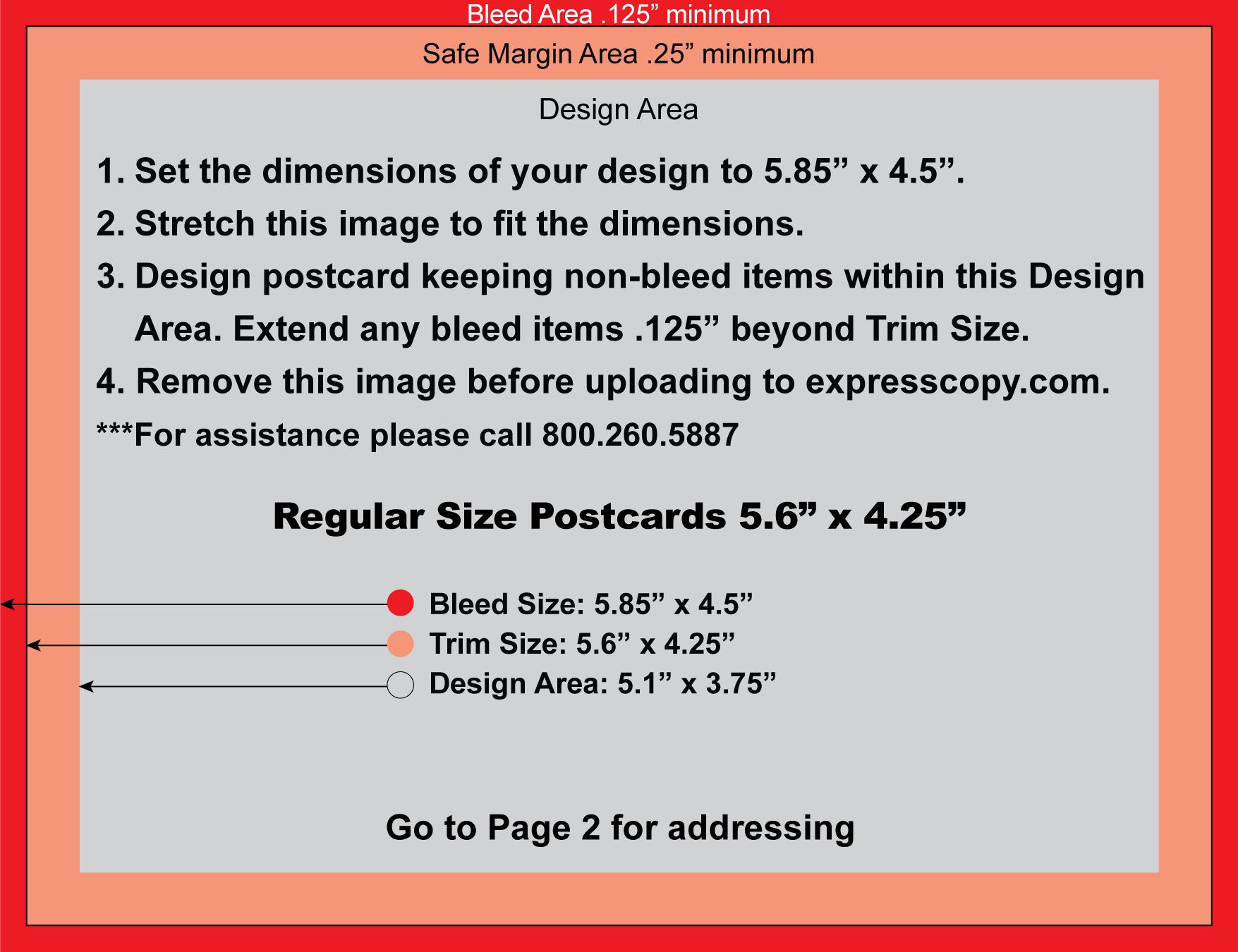 postcard size template word - postcard specifications postcard postal regulations