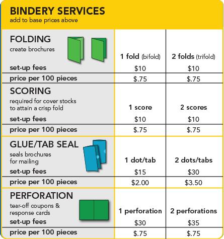 flyer brochure printing pricing