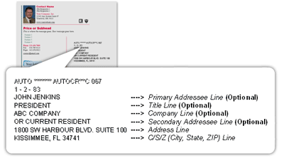 printed address example