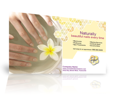 image of a direct mail postcard for a nail salon